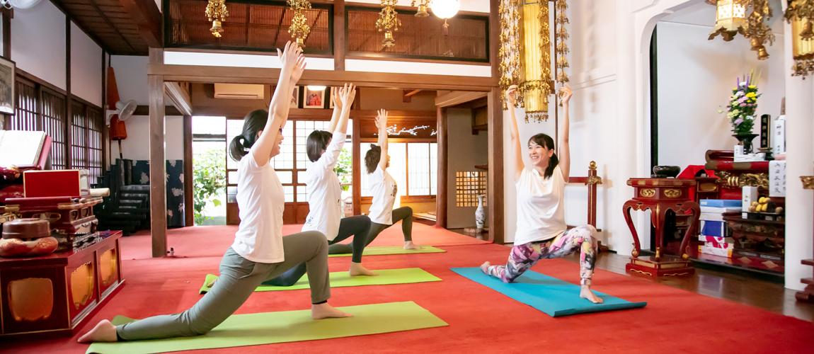 浅草の寺ヨガ・台湾式足つぼ「Yogaチャン」